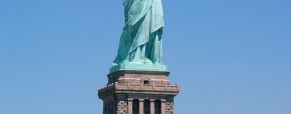 Their first glimpse of the Statue of Liberty.