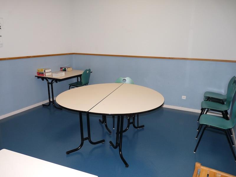 Salle d'études de l'Internat