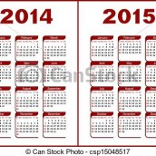 Calendrier de l'année scolaire 2014/2015