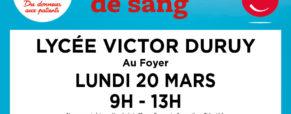 Don du sang 20/03