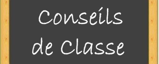 Dates des conseils de classe