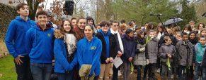 Nos élèves à la cérémonie libération d'Auschwitz