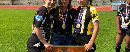 3 élèves championnes de France de rugby
